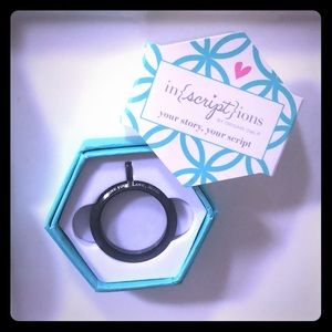 Origami Owl Jewelry - Origami Owl~in{script}ions black twist locket base